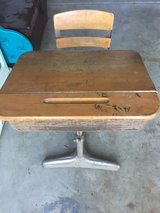 kids antique metal/wood desk in Naperville, Illinois