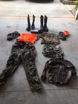 Assorted Hunting Clothes and Equipment in Fort Benning, Georgia