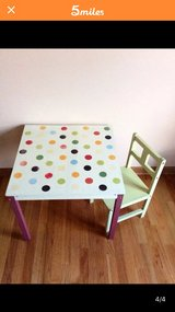 Pottery Barn Kids Table and Chair in Elgin, Illinois