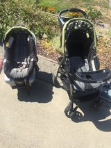 Car seat 2 bases and stroller in Vacaville, California