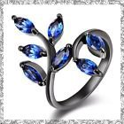 New - Sapphire and Black Leaf Ring - Size 6 in Alamogordo, New Mexico