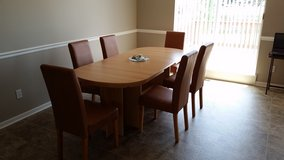 Dining Room Table + Six Chairs in Fort Leavenworth, Kansas