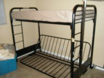 YOUTH METAL TWIN/FULL FUTON BUNK BED in Fort Rucker, Alabama