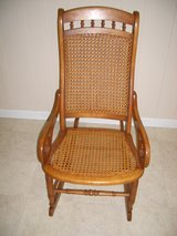 BENT WOOD WICKER RATTAN CANE ROCKING CHAIR in Fort Rucker, Alabama