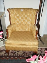 PAIR OF VINTAGE WING BACK CHAIRS in Fort Rucker, Alabama