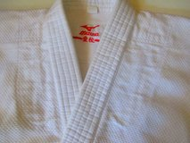 "Martial Arts Mazuno Weave Jacket  Karate  Grappling Judo  sz  4'4'' to 4'8"" up to 95 lbs. in Pleasant View, Tennessee"