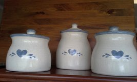 Ceramic pottery canisters in Naperville, Illinois