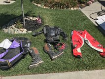 Cycle gear in Travis AFB, California