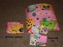 Twin Shopkins bed set & Shower Curtain in Fort Knox, Kentucky