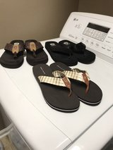 Tommy Hilfiger flip flops and yellow box in Hinesville, Georgia