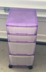 Plastic 4 Drawer Organizer With Wheels in 29 Palms, California