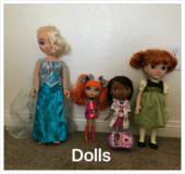 Dolls in Fort Irwin, California