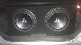 """Two 12"""" JL audio subs with an 1100 watt amp in 29 Palms, California"""