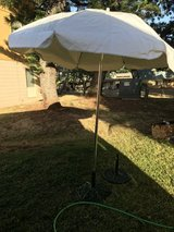 PATIO UMBRELLA WITH METAL BASE in Pearl Harbor, Hawaii