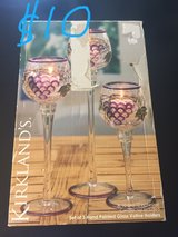 candle holder set of 3 in box in Okinawa, Japan