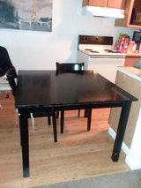 Dining table with 3 chairs! (black) in Fort Lewis, Washington