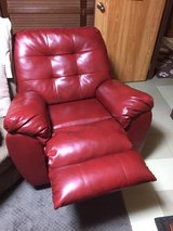 Red recliner in Okinawa, Japan