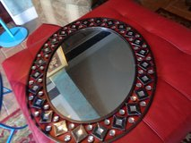 metal framed mirror w/jewels 30 by 26 lovely in Wilmington, North Carolina