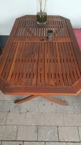 teak patio table in Ramstein, Germany