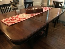 Wood table with 6 chairs in Camp Lejeune, North Carolina