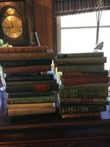 Old hardback books in DeRidder, Louisiana