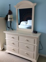 eggshell white dresser with mirror in Quantico, Virginia