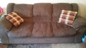 Brown Sofa / Couch with Matching Pillows in Fort Lee, Virginia