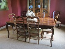 DINING ROOM SET TABLE AND CHAIRS AND BREAKFRONT in Bolingbrook, Illinois