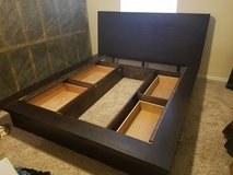Queen Sized Solid Wood Bed in Sugar Land, Texas
