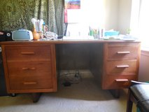 Large solid wood office desk in Fort Polk, Louisiana