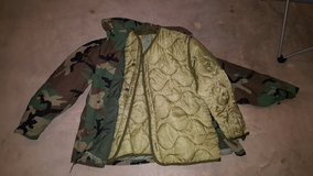 Cold Weather Field Coat Woodland with Liner in Fort Polk, Louisiana