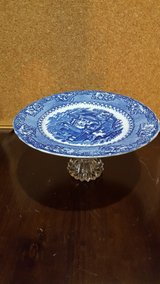 small blue & white serving plate in Oswego, Illinois