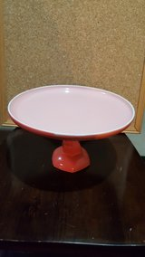 coral colored serving plate in Oswego, Illinois