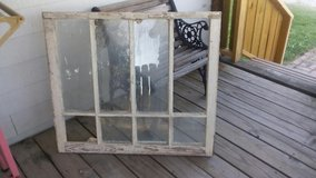 Antique wood window frame for craft ideas in Baytown, Texas