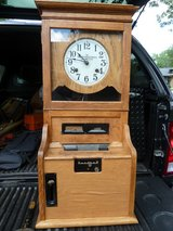 ANTIQUE OAK Cincinnati Time Recorder Regulator Punch Clock Day Date in Bolingbrook, Illinois