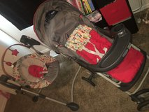 Matching stroller and swing in Fort Leonard Wood, Missouri