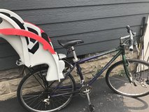 Women's Trek bike with child bike carrier in Glendale Heights, Illinois