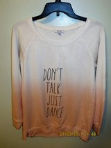 "delia*s Junior's Medium ""Don't Talk Just Dance"" Long Sleeve, Long Graphic Tee in Glendale Heights, Illinois"