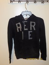 "aerie Junior's Small, Navy with Heather Gray Lettering ""AERIE"" Hoodie in Glendale Heights, Illinois"