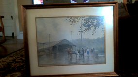 "Paul Sawyier print ""Autumn at the Bridge"" #25 in Lexington, Kentucky"