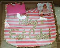 "Mud Pie ""Today I Eat Cake"" bib & crown in Houston, Texas"