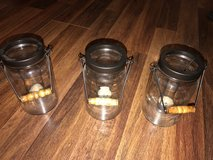 Mason Jar style candle holders in Fort Polk, Louisiana