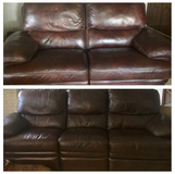 Leather Recliner Set in Bolingbrook, Illinois