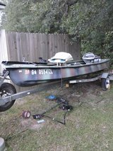 Boat and trailer   for sale, 14 ft with trolling motor, 4 hp johnson in good condition,  new tir... in Moody AFB, Georgia
