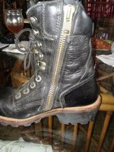 Black Leather Harley Davidson Boots in Las Cruces, New Mexico