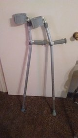 crutches. in Fort Campbell, Kentucky