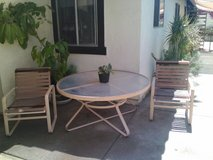 vintage patio set (6 chairs and table) in Oceanside, California