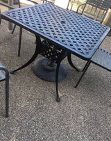 iron patio table Only! in Tinley Park, Illinois