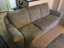 "65"" tv, dine table, couch, storage ottoman, dumbells in Travis AFB, California"