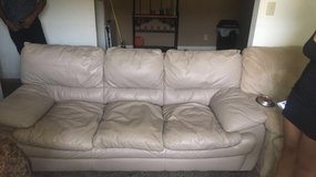 tan leather couch in Fort Campbell, Kentucky